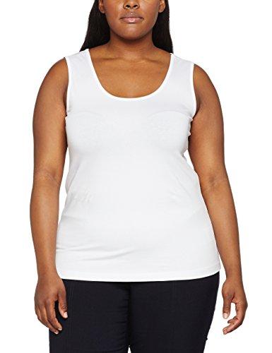 GINA LAURA Top, Basic, Uni, Breite Träger, Débardeur Femme, XXX-Large Weiß (weiss 20)