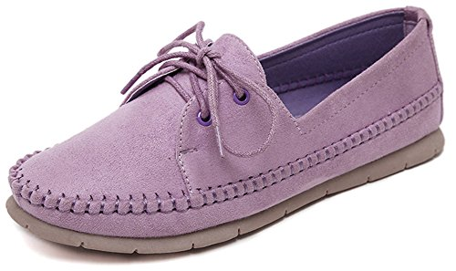 fangsto-womens-suede-leather-moccasin-flat-shoes-lace-ups-uk-size-5-purple