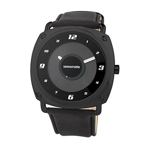 Lambretta 2089/BLA - Reloj, Correa de Cuero Color Negro