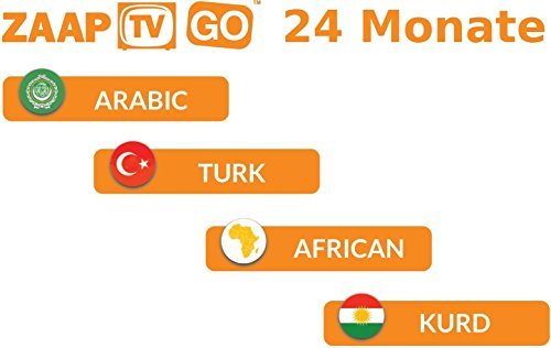 Zaap TV X HD Arabic IPTV 2 Year + ZaapTV Go - Buy Online in