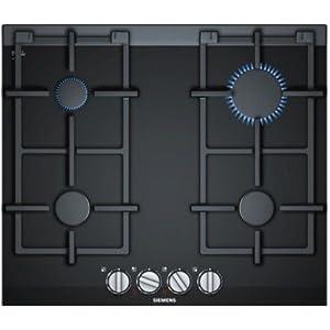 Siemens ER6A6PD70 hobs Negro Integrado Encimera de gas – Placa (Negro, Integrado, Encimera de gas, Hierro fundido, 1100…