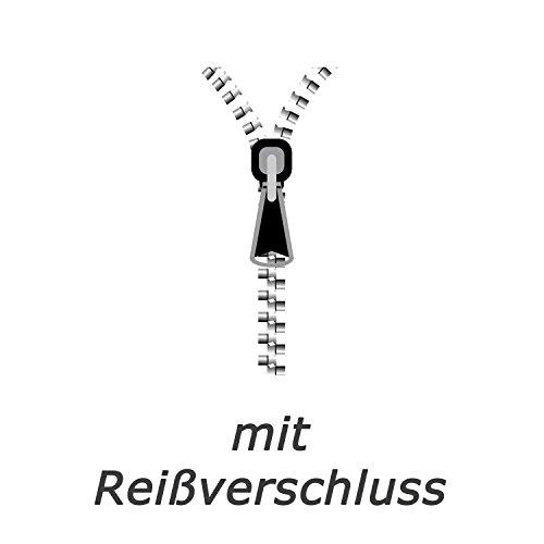 2 TLG. Renforce Bettwäsche Set 135×200 cm Bettwäschegarnitur mit RV in Weiss Gelb Vögel