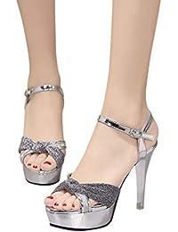 ff2e8928 Sandalias Mujer Verano 2019 Tacon Alto Zapatos Soltero Zapatos Cinturón  Hebilla Salvaje Vestido Sandalias Estilete Sandalias