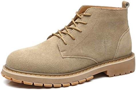 NXY Botas clásicas de Desierto para Hombre Cuero de Gamuza Caqui Zapatos Casuales