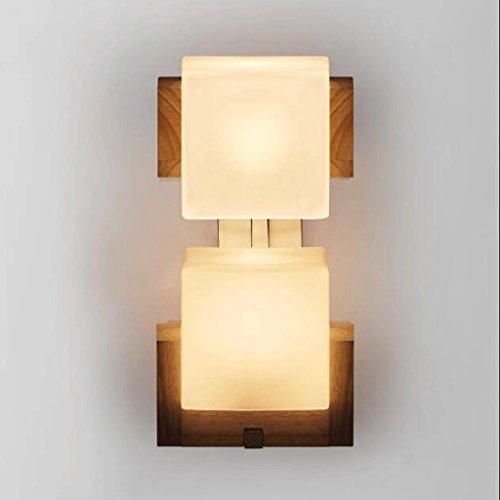 GAODUZI Creative Vintage Salle À Manger Aisle Bar Tête de Lit Café Double Chêne Sucre Cube Applique Sugar Cube Lampe Murale Chambre Lampe Salon Lumières E27