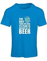 """Camiseta mujer """"Tener miedo de no tener una cerveza"""" - para la fiesta, bebiendo camisetas"""