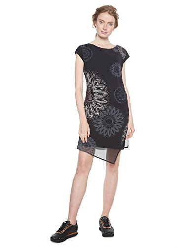 Desigual Damen Kleid Vest_SANDRINI, Schwarz (Negro 2000), 38
