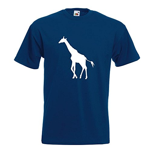 KIWISTAR - Giraffe Silhouette T-Shirt in 15 verschiedenen Farben - Herren Funshirt bedruckt Design Sprüche Spruch Motive Oberteil Baumwolle Print Größe S M L XL XXL Navy