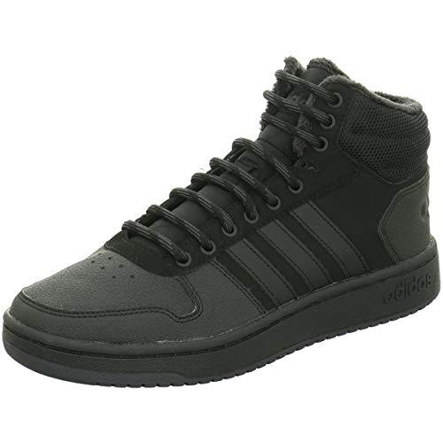 adidas Hoops 2.0 Mid, Herren Basketballschuhe, Schwarz (Cblack/Cblack/Carbon Cblack/Cblack/Carbon), 45 1/3 EU (10.5 UK)