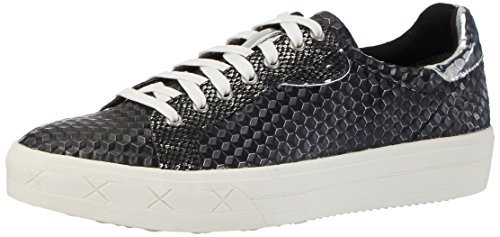 Tamaris 23604, Baskets Basses Femme Noir (BLACK STRUCT. 006)