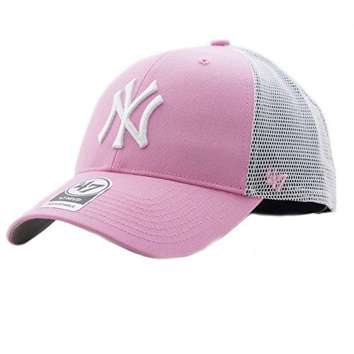 47 brand Gorra Mlb New York Yankees Mvp Trucker rosa blanco talla  Ajustable 4d6dad3651c5