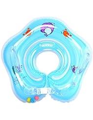 Salvagente Collo Neonato - WinCret Gonfiabile Regolabile Doppio Airbag Salvagente Neonate per 1-18 Mesi Baby