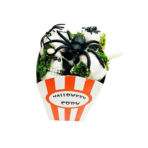 (Schreckliche Geräte Horror Foam Popcorn Halloween Simulation Horror Maus Spinne Scary Party gruselig Dekor Schaum Popcorn (Farbe : Spider))