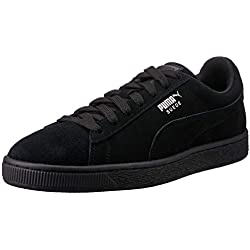 Puma - Suede Classic+ - Baskets mode - Mixte Adulte - Noir (black-dark shadow) - 43 EU