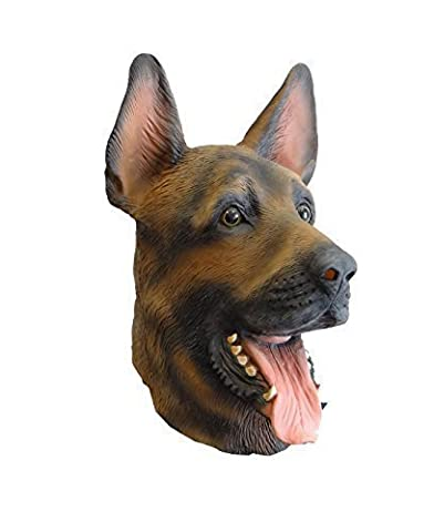 Latex Costume - Masque en Latex Chien Berger Allemand pour