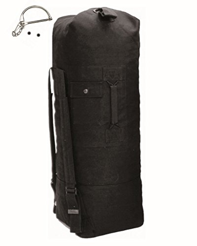 BW Seesack Reisetasche mit Doppelgurt mit Verschlussbügel schwarz
