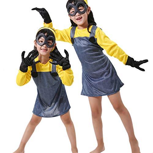 Me Minion Girl Despicable Kostüm - unbrand Damen Erwachsene Kinder Weibliche Despicable Me Minion Film Cartoon Spiel Kostüm Outfit