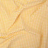 Vichy-Karo Baumwolle 5 mm - Gelb-Weiss