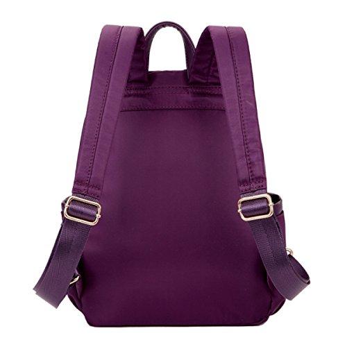Borsa A Tracolla Di Stoffa LAIDAYE Di Oxford Sacchetti Impermeabili Borse Per Il Tempo Libero Borse Da Viaggio Zaini Borse Purple
