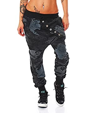 ZARMEXX Señoras de moda los pantalones de chándal harem de los pantalones anchos Harem Salón novio Deportes Loose...
