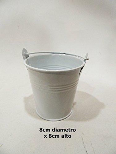 SZ - Cubo pequeño latón 8cm blanco