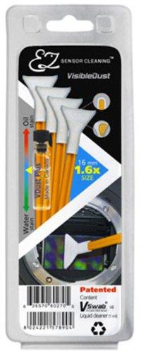 VisibleDust orange Serie EZ Sensor Cleaning Kit 4x VSwab 1.6x 1ml VD Visible Dust Swabs