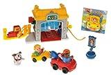Fisher-Price - N9997 - Little People - Vehicle Garage / Tankstelle - Spielset mit 2 Fahrzeugen, Zubehör und DVD (ENGLISCH!!!)