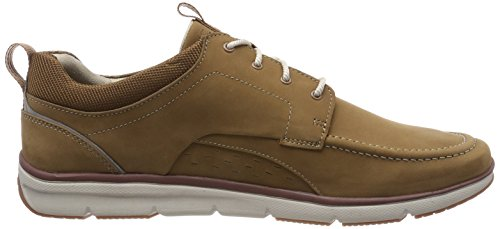 Clarks Orson Bay, Sneakers Basses Homme Marron (Tan Nubuck)