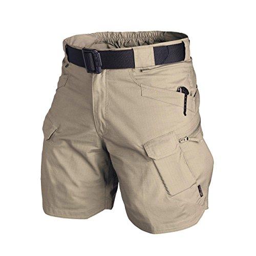 Helikon-Tex Urban Tactical Shorts kurze Cargohose 8,5 (L) Khaki  - Mens Tactical Hose Khaki