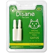 Disane Pipetas Antiparasitarias 100% Naturales para Gatos | 2 Unidades | 1 Mes de Protección