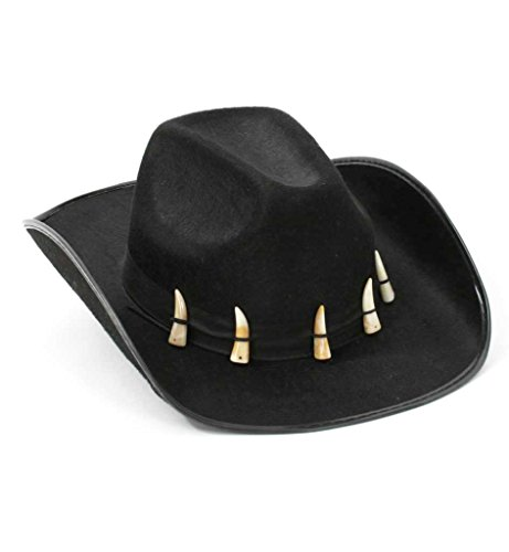 Cowboy-Hut Crocodile, schwarz, Kopfbedeckung, Krokodil, Abenteurer