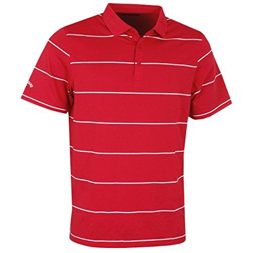 Callaway Herren Chev Auto stripe Polos Rot