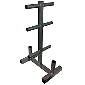Evinco Commercial Olympic Weight Plate Tree Rack Stand for
