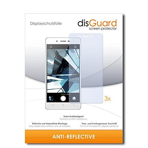 disGuard® Bildschirmschutzfolie [Anti-Reflex] kompatibel mit Oppo Mirror 5 [3 Stück] Entspiegelnd, Matt, Antireflektierend, Extrem Kratzfest, Anti-Fingerabdruck - Panzerglas Folie, Schutzfolie
