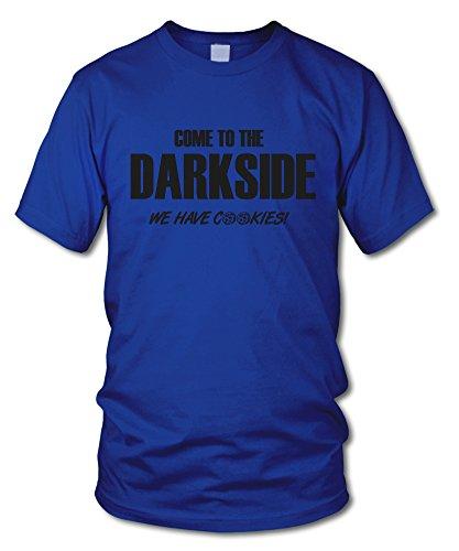 shirtloge - COME TO THE DARKSIDE! WE HAVE COOKIES! - FUN T-Shirt - in verschiedenen Farben - Größe S - XXL Royal (Schwarz)
