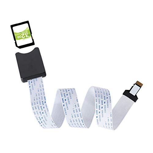 TF a la Tarjeta SD Cable de Extensión Adaptador de Tarjeta de Memoria Cable de Extensión para Mini Impresora 3D/GPS de Coche/Pantalla LCD Compatible con Raspberry Pi,Sandisk