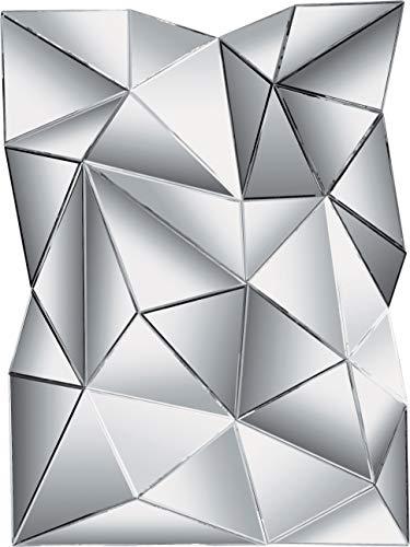 Kare Design Spiegel Prisma, Wandspiegel, Dekospiegel, Wanddeko, Wanddekoration, Spiegeldeko, großer, rechteckiger Spiegel, (H/B/T) 120x80x10cm