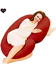 Coozly C Shaped Pregnancy Pillows with PregnoCare Fibres and Zippered Detachable Cover