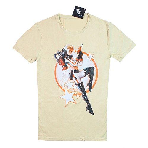 fallout 4 t shirt Fallout 4 Herren T-Shirt Nuka Cola Pin-up beige Baumwolle - M