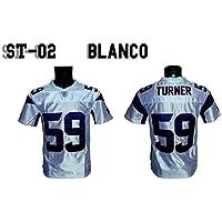 Camiseta Fútbol Americano Blanca NY FRIDAYS ST/02 (XS)