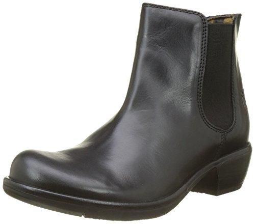 FLY London Damen Make Chelsea Boots, Schwarz (Black), 41 EU (High Flach Womens Boots)
