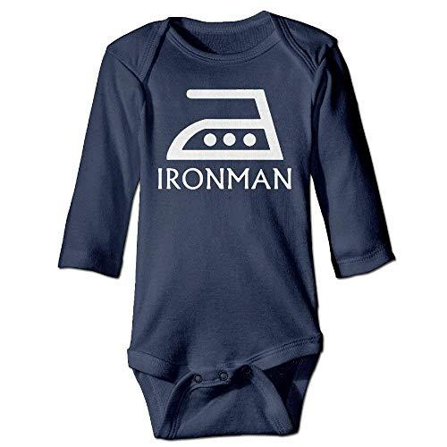 Unisex Infant Bodysuits Ironman Girls Babysuit Long Sleeve Jumpsuit Sunsuit Outfit Navy