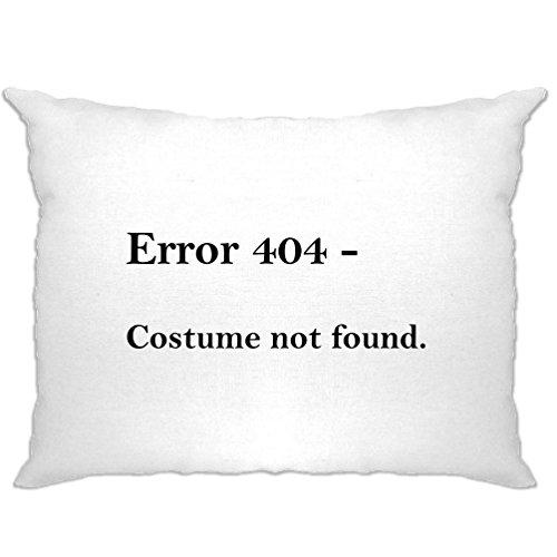 Error 404 Halloween Printed Slogan Zitat Design Premium-Qualität Kissenbezuge (404 Halloween Kostüm)