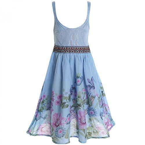 Mädchen Kinder Spitze Kleid Peticoatkleid Festkleid Sommerkleid Kostüm 20423, Farbe:Blau;Größe:104 (Für Ausgefallene Kleidung Mädchen)