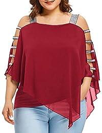 FAMILIZO Camisetas Mujer Verano Blusa Mujer Elegante Camisetas Mujer Manga Corta Algodón Camiseta Mujer Camisetas Mujer Fiesta Camisetas Sin Hombros Mujer Camisetas Mujer Tallas Grandes