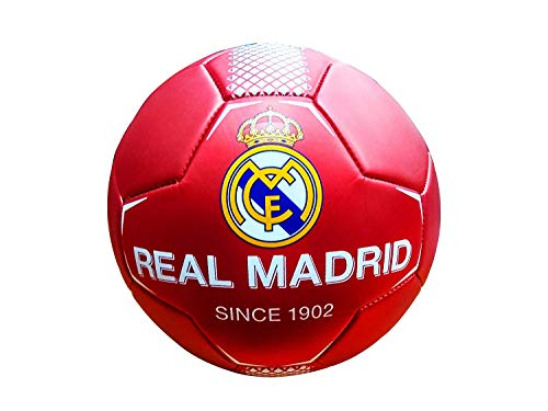 REALMADRID Real Madrid Balón de fútbol Unisex niños, Rojo Talla 5