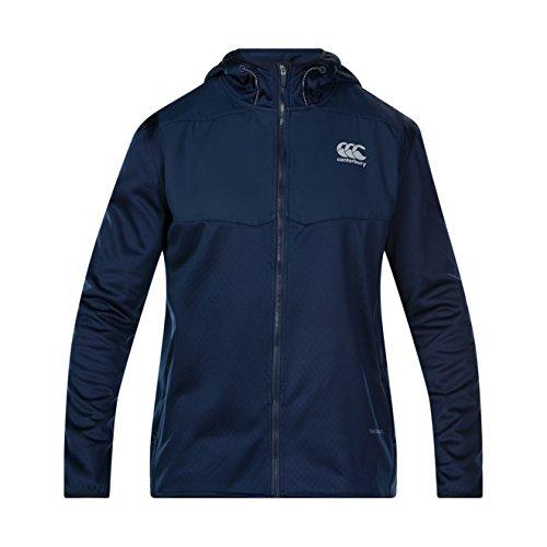 Canterbury of New Zealand Herren Thermoreg Spacer Fleece Full Zip Kapuzenpullover, Navy, 3XL (Zip Fleece Hoody Full)