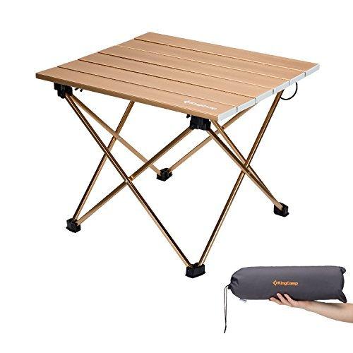 KingCamp Ultra leichte leichte Klapptisch für Camping im freien Picknick Angeln (56 x 40.5 x 40 cm)