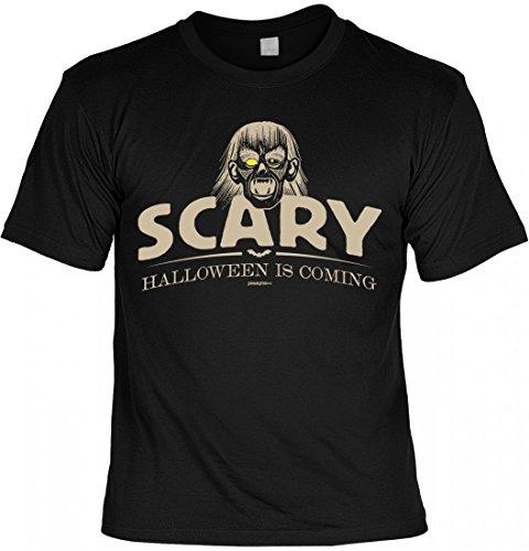 sex T-Shirt - Scary - Halloween is Coming - Vampir - Geschenk-Idee zur gruseligsten Zeit Des Jahres in Farbe: Schwarz, Größe:M (Vampir Outfits Ideen)