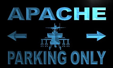 Enseigne Lumineuse m142-b Apache Parking Only Neon Light Sign